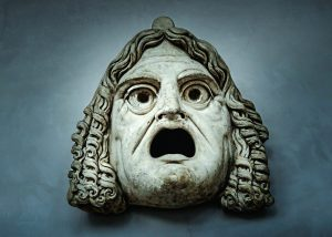 Decoration with marble theater mask - Vatican Museums