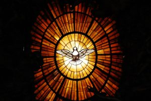 Stained glass in Saint Peter Basilica