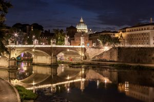 The Tiber with St. Peter's dome