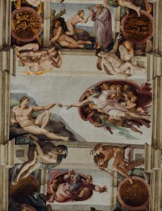 Sistine Capel's ceiling by Michelangelo